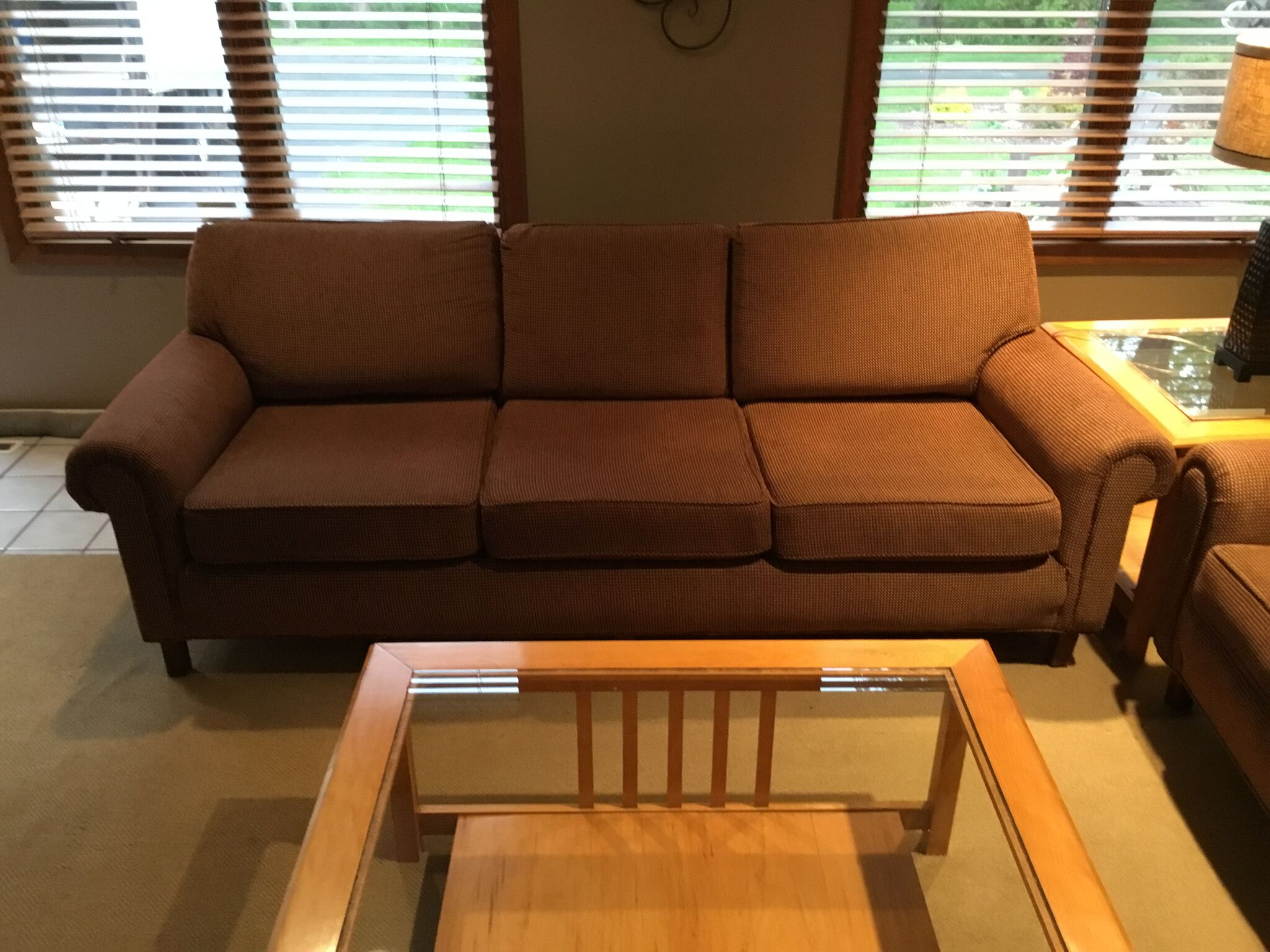 Thomasville Brown Couch 7 Foot Long